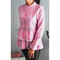 Koszula SHILA różowa krata