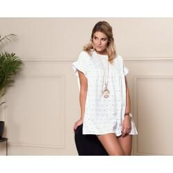 Letnia sukienka FLOWER biała