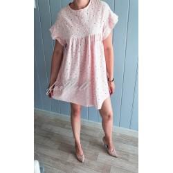Letnia sukienka FLOWER różowa