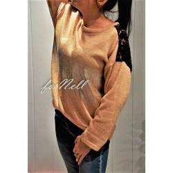 Sweter posrebrzany jasny...