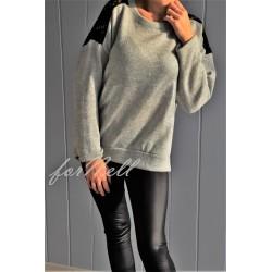 Sweter posrebrzany szary