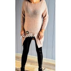 Sweter ROMB moda blady róż