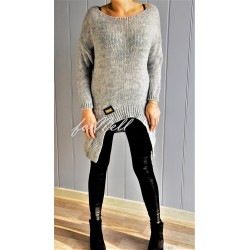 Sweter ROMB moda szary