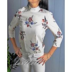 Koszulowa bluzka VIA kwiaty
