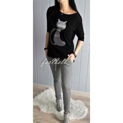 Bluzka CAT czarna