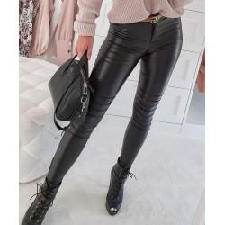 Spodnie woskowane BIKER czarne