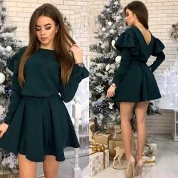 Sukienka KALA bufki zielona