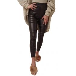 Spodnie woskowane czarne -...