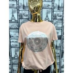 Bluzka T-Shirt MANDALA puder