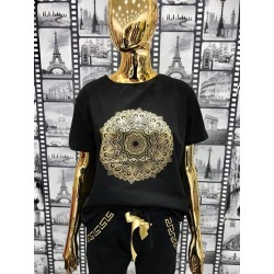 Bluzka T-Shirt MANDALA CZARNA