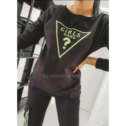 Bluza/bluzka GIRL GANG czarna