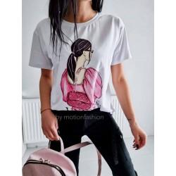 Koszulka T-shirt GIRL BIAŁA