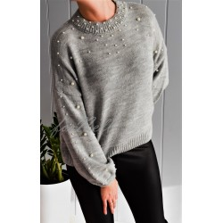 Sweter By Perla light gray