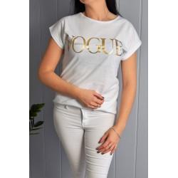 T-shirt VOGUE biały rozmiar L